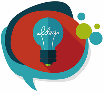 Light bulb expressing presentation design ideas